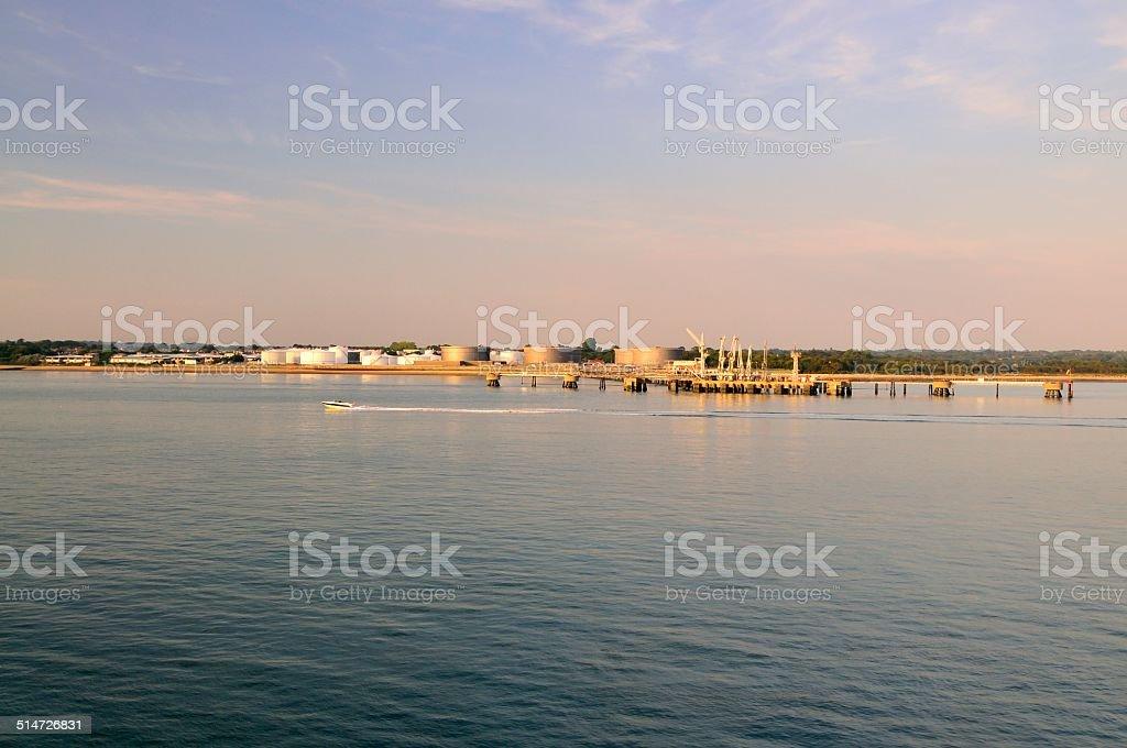 Hamble Point Oil Storage Tanks stock photo
