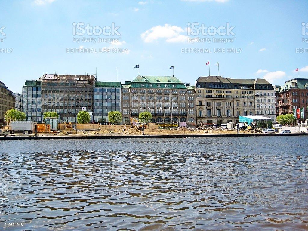 Hamburg Alsterhaus, Germany stock photo