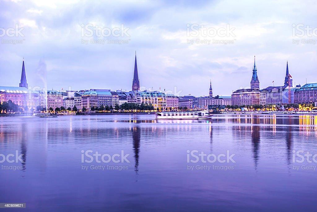 Hamburg Binnenalster royalty-free stock photo