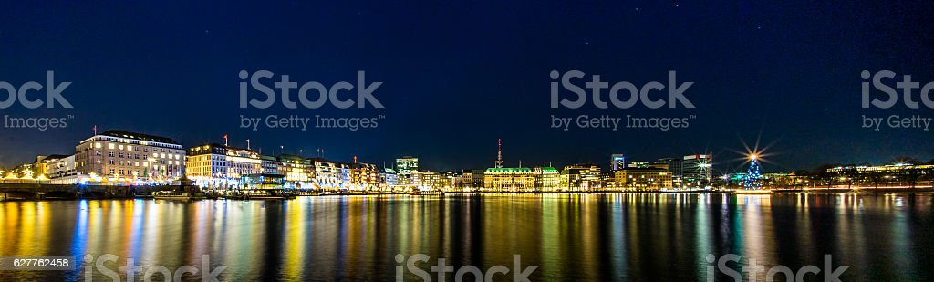 Hamburg Binnenalster stock photo