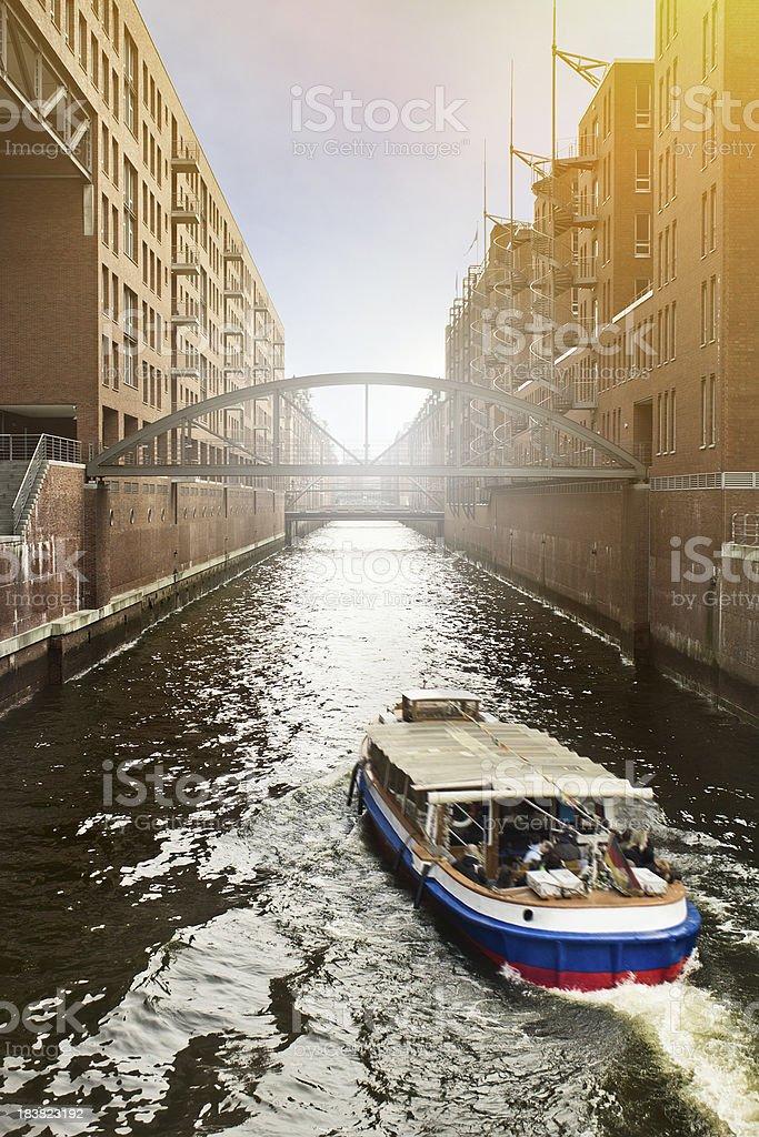 Hamburg Canal royalty-free stock photo