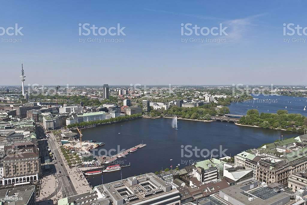 Hamburg city centre stock photo