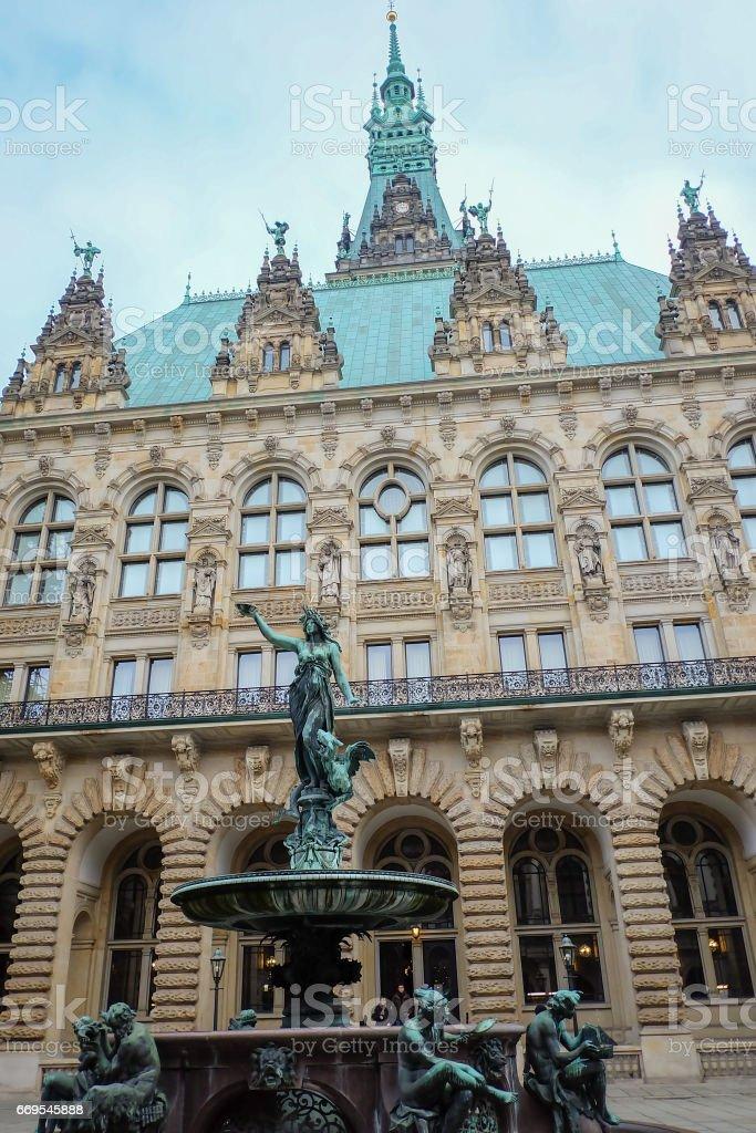 Hamburg city hall - Rathaus. Germany stock photo