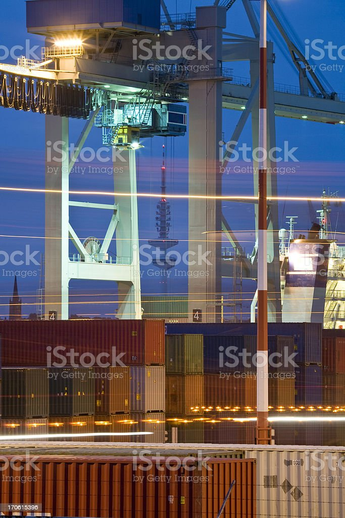 hamburg container terminal royalty-free stock photo