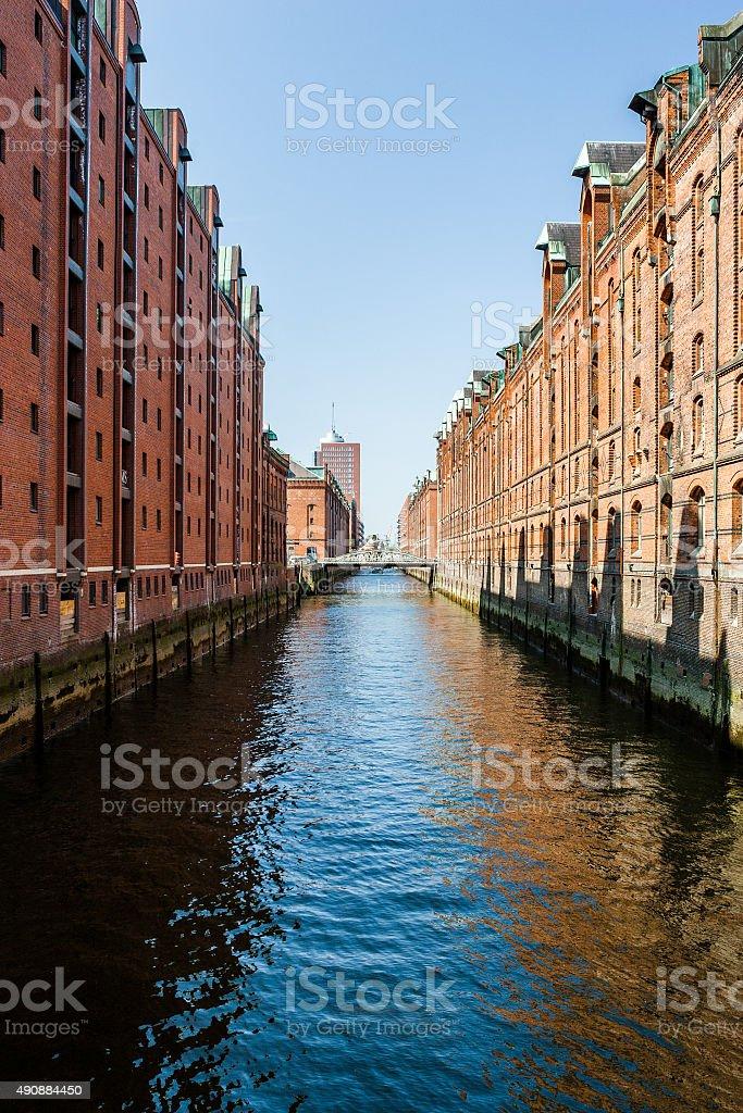 Hamburg: Famous Speicherstadt warehouse district stock photo