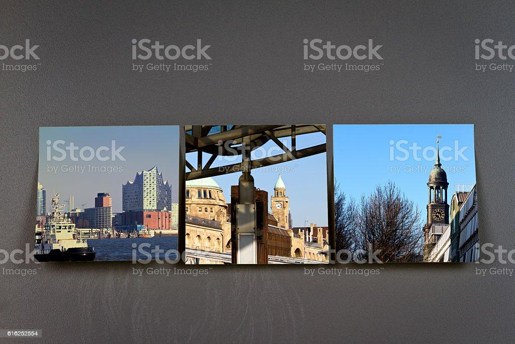 Hamburg germany city impressions stock photo