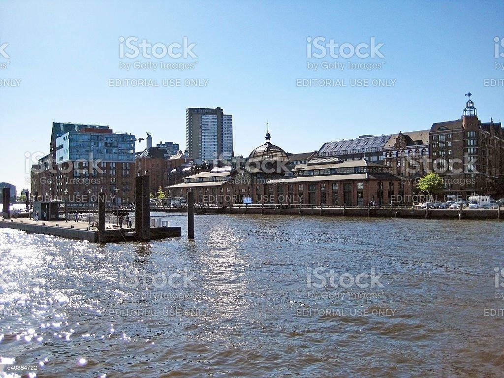 Hamburg, Germany - fish auction hall (Fischmarkt) stock photo