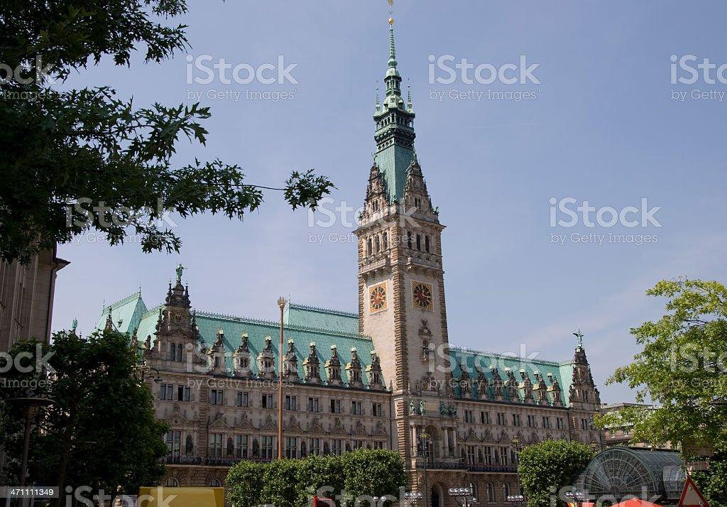 Hamburg, Germany, Rathaus royalty-free stock photo