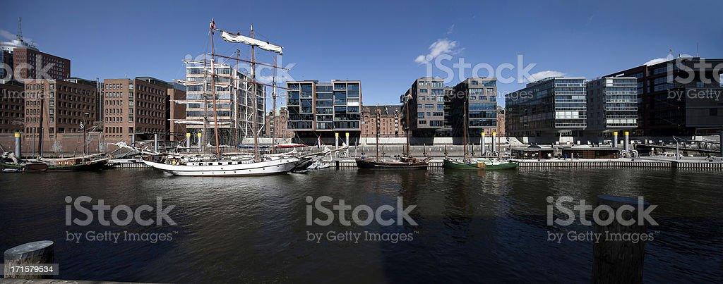 hamburg, hafencity, panorama stock photo