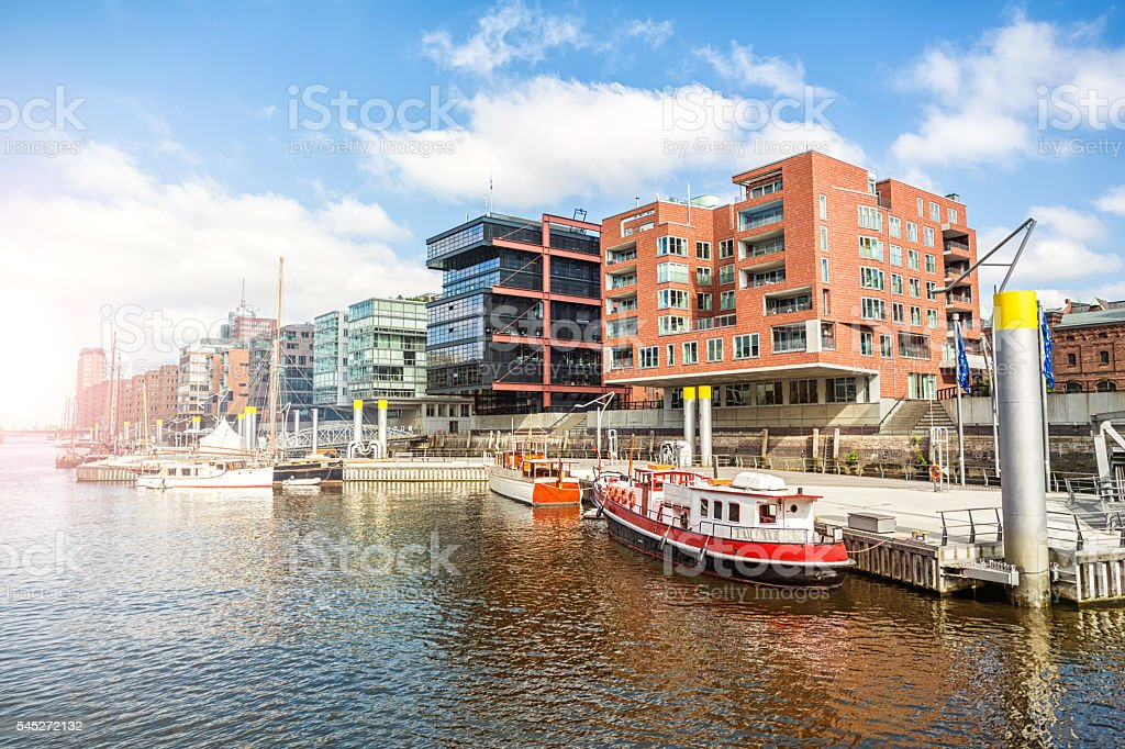 Hamburg Hafencity stock photo