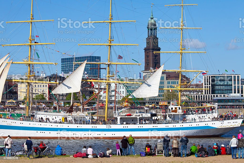 Hamburg harbor birthday, Germany stock photo