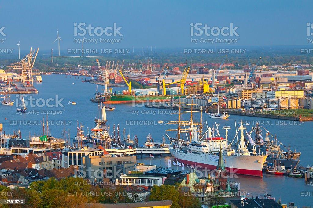 Hamburg harbor birthday, Germany- stock photo