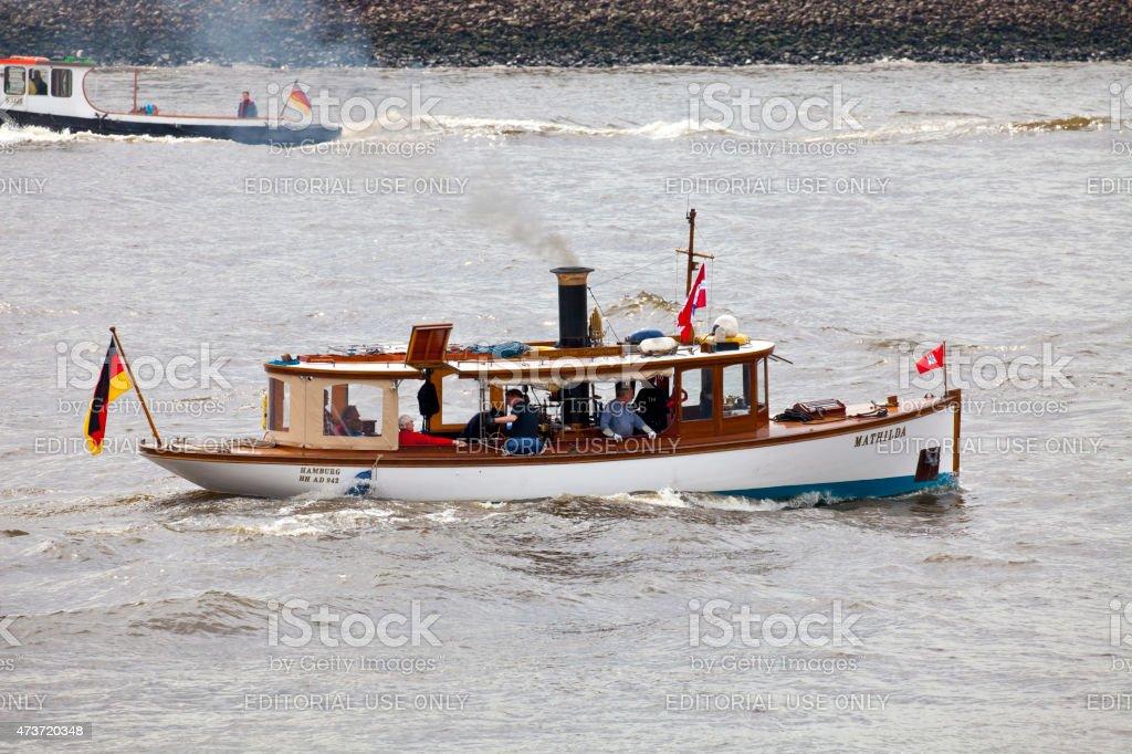 Hamburg harbor birthday, Germany stock photo