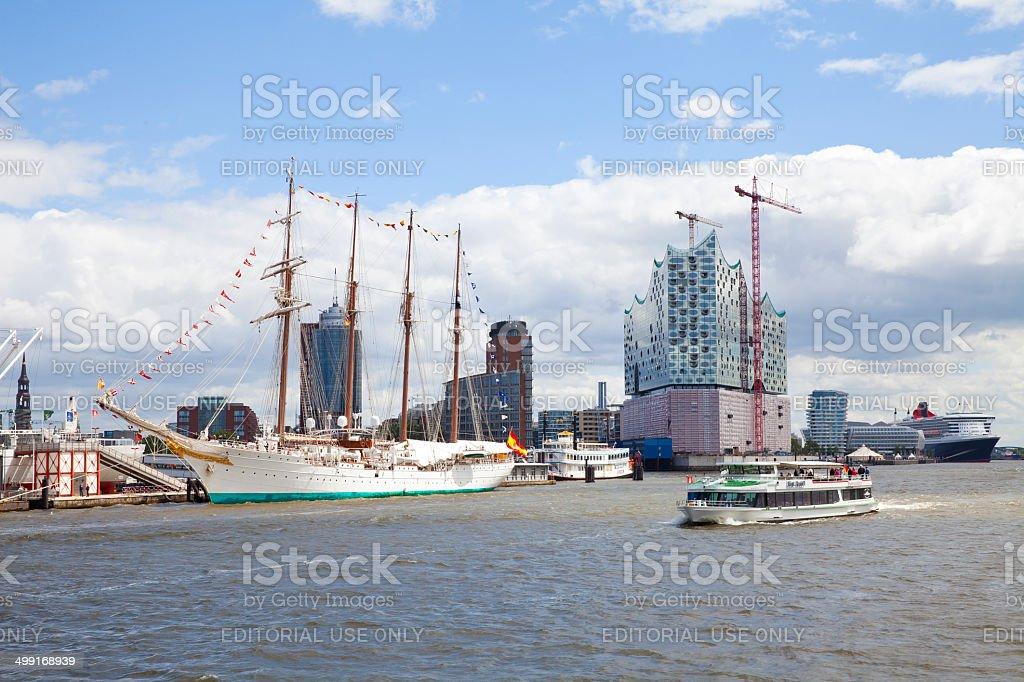Hamburg harbor, Germany stock photo