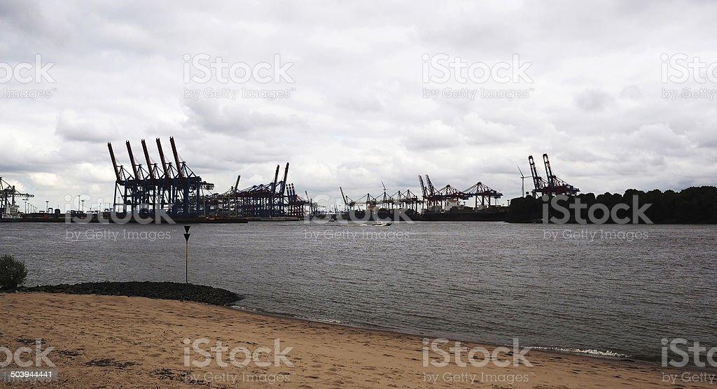 Hamburg Harbor stock photo