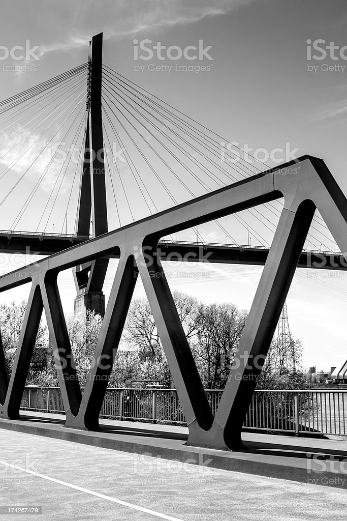 Hamburg Harbour Bridges black stock photo