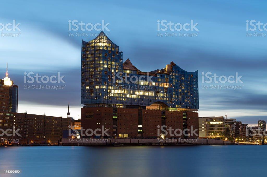Hamburg harbour , Elbe Philharmonic Hall stock photo