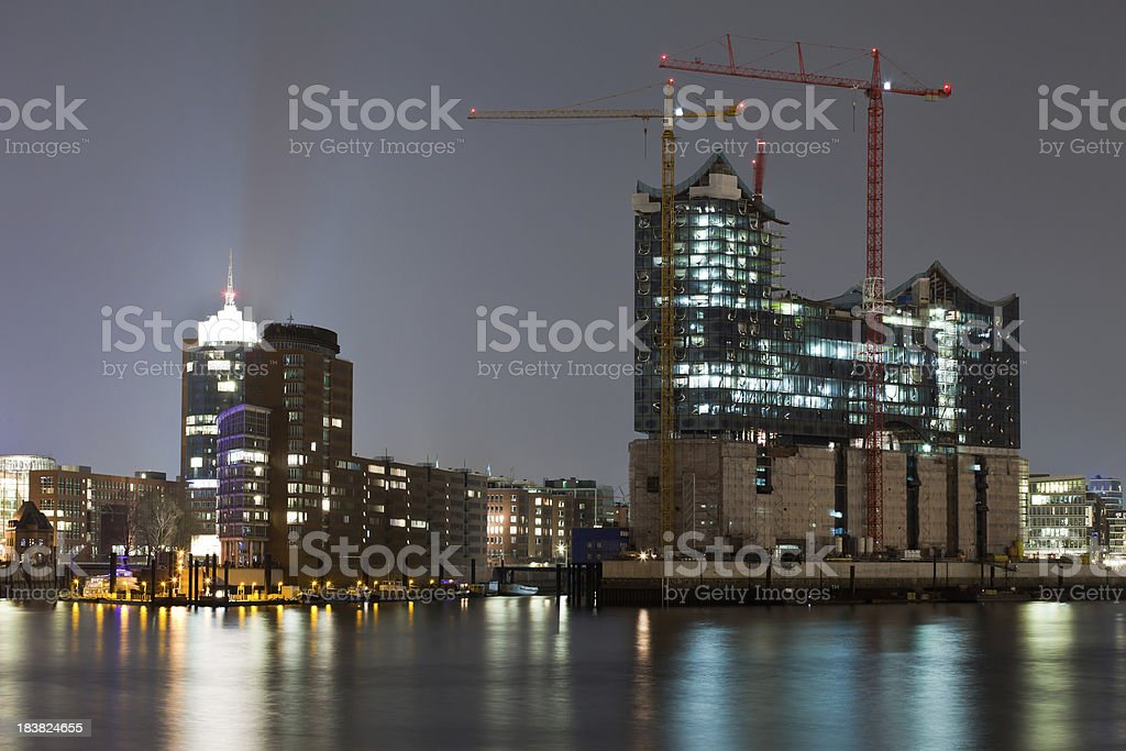 Hamburg harbour , Elbe Philharmonic Hall royalty-free stock photo