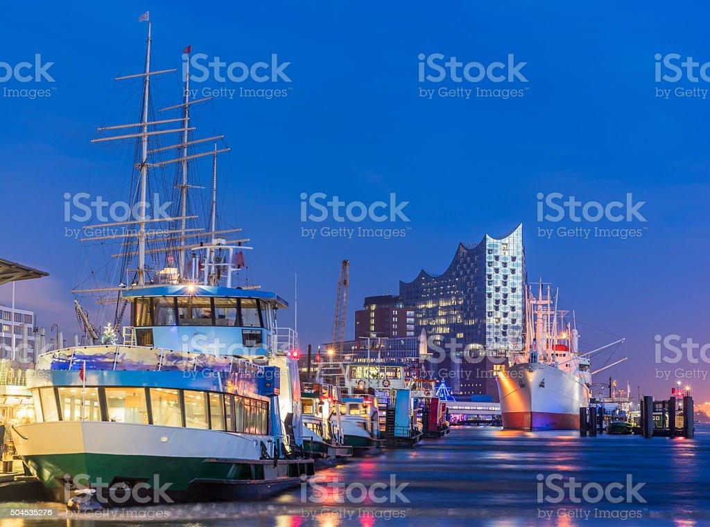 Hamburg harbour, Elbe Philharmonic Hall stock photo