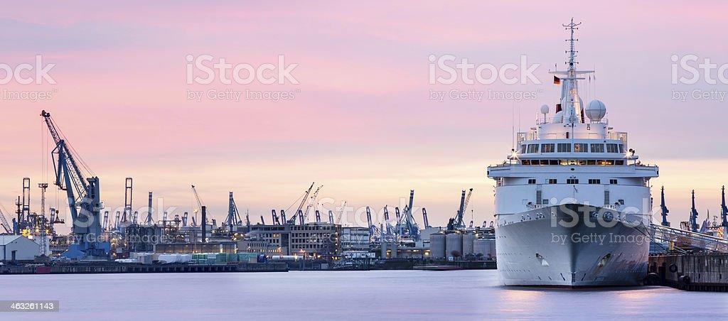 Hamburg harbour scene - Germany stock photo