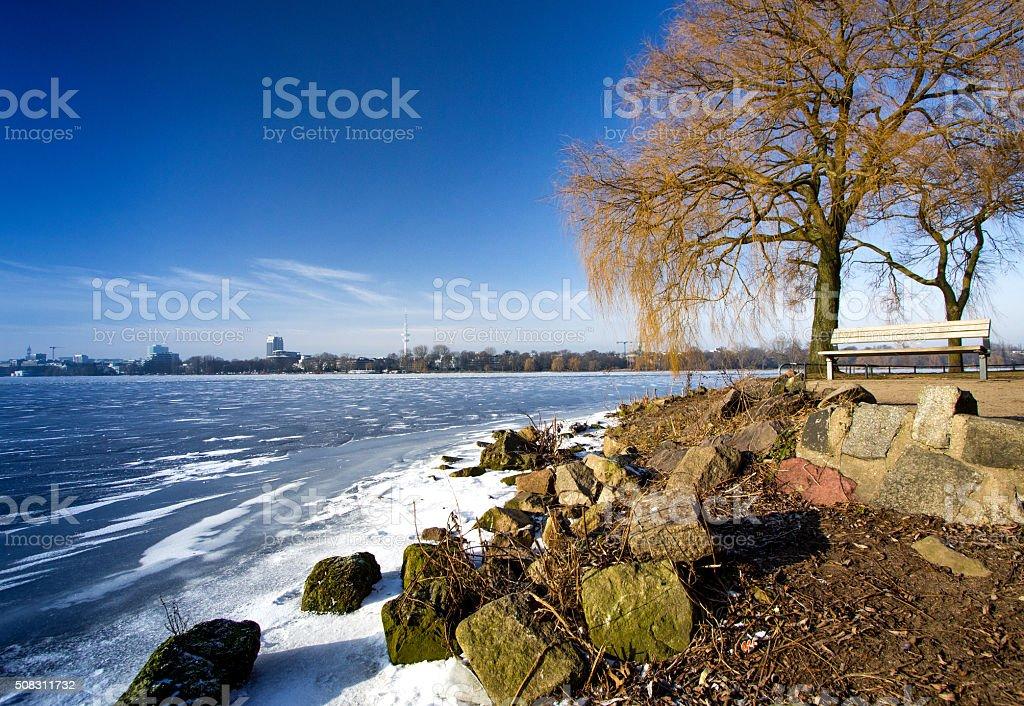 Hamburg im Winter 2016 stock photo