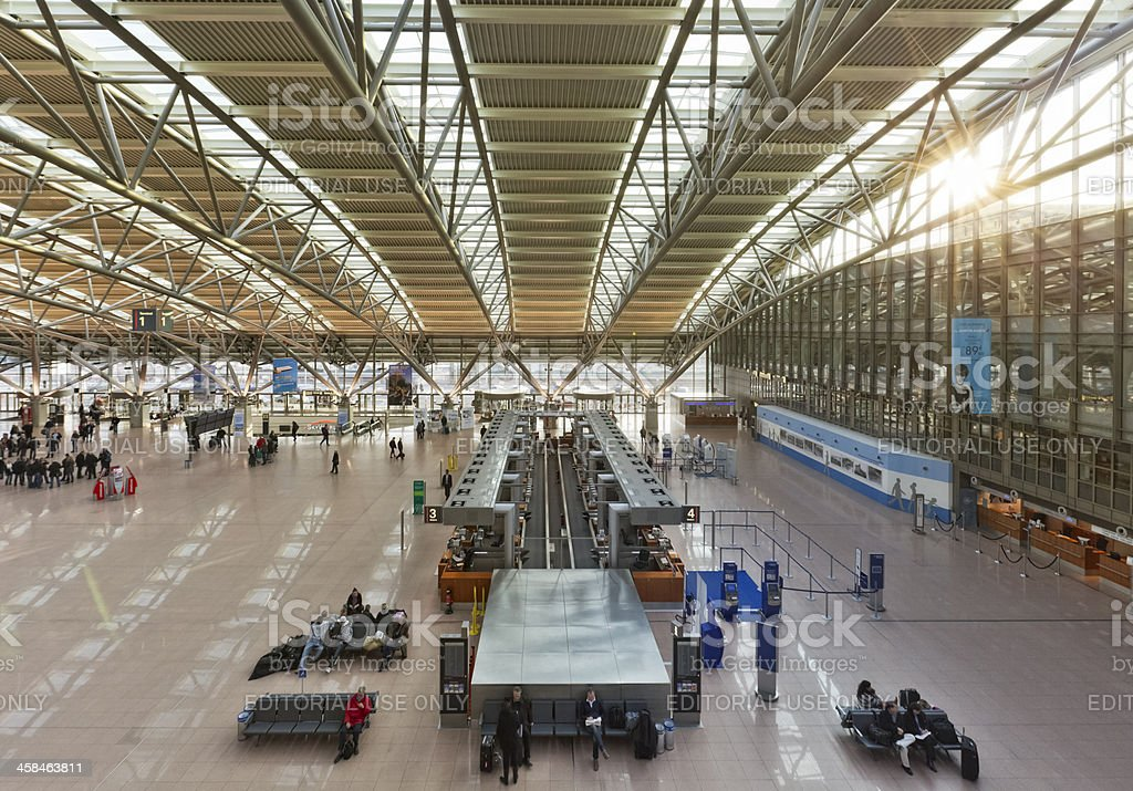 Hamburg International Airport - Terminal 2 royalty-free stock photo