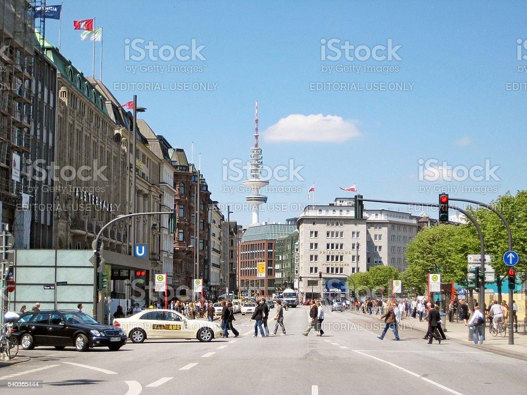 Hamburg Jungfernstieg, Germany stock photo