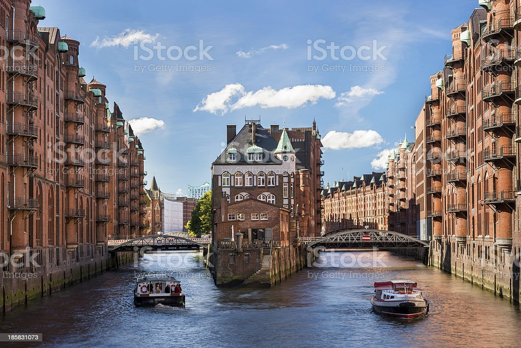 Hamburg landmark Wasserschloss stock photo