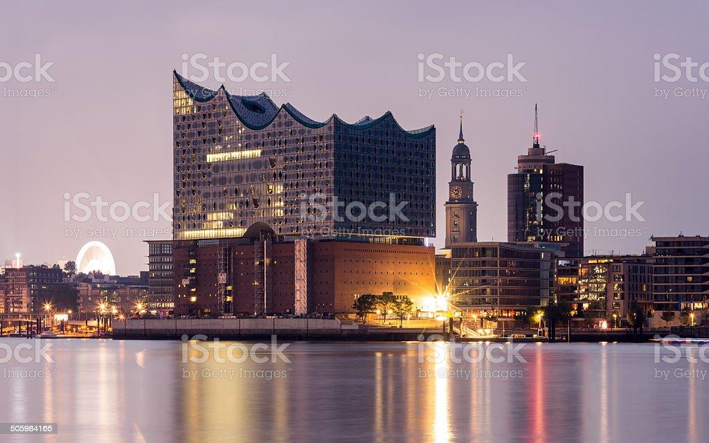 Hamburg landmarks stock photo