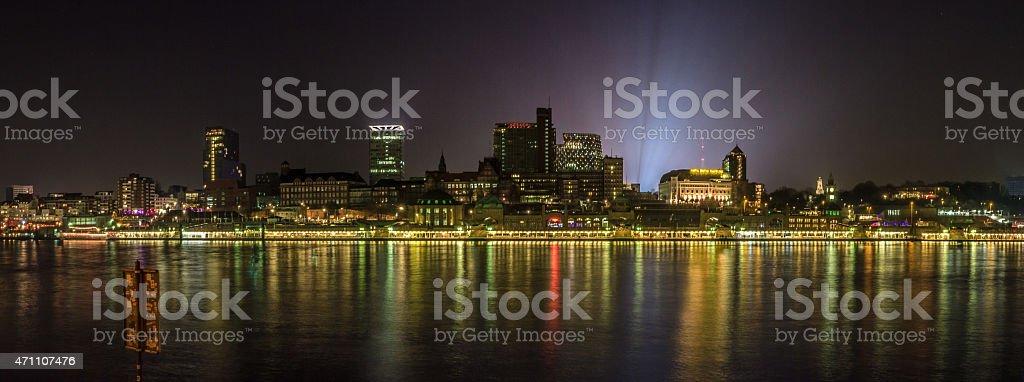 Hamburg Landungsbr?cken Panorama stock photo