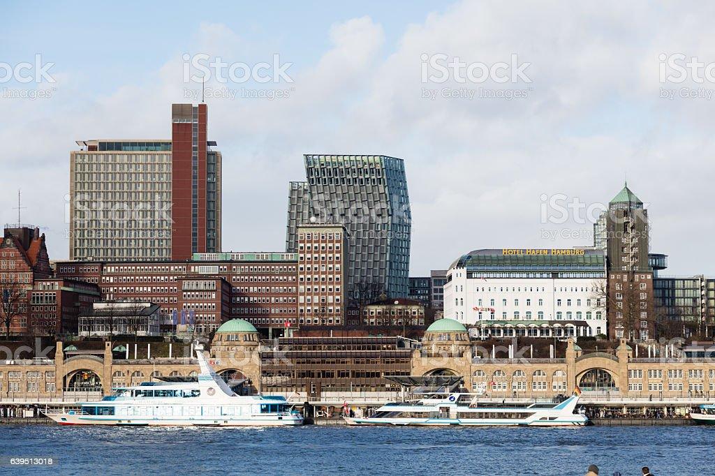 Hamburg Landungsbrücken stock photo