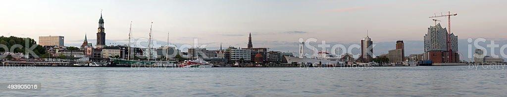 Hamburg Panorama stock photo