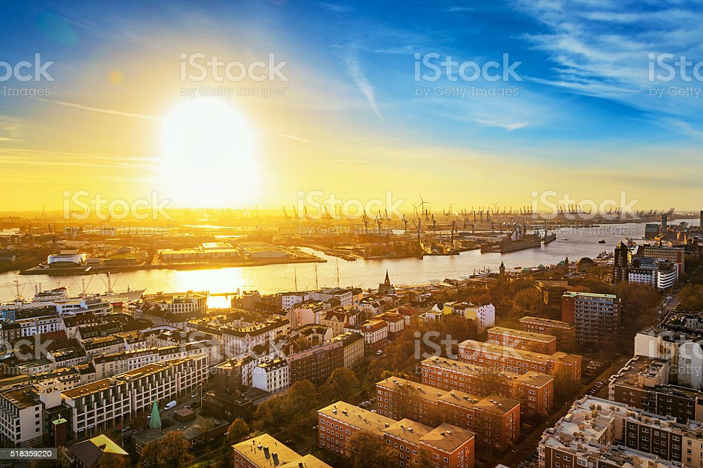 Hamburg stock photo