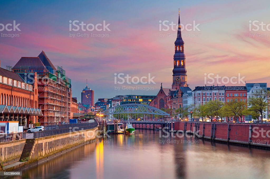 Hamburg. stock photo