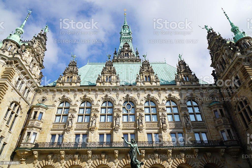 Hamburg Rathaus city hall building stock photo
