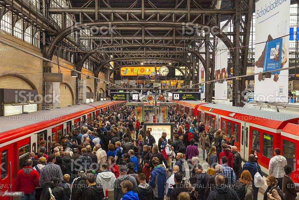 Hamburg S-Bahn station stock photo