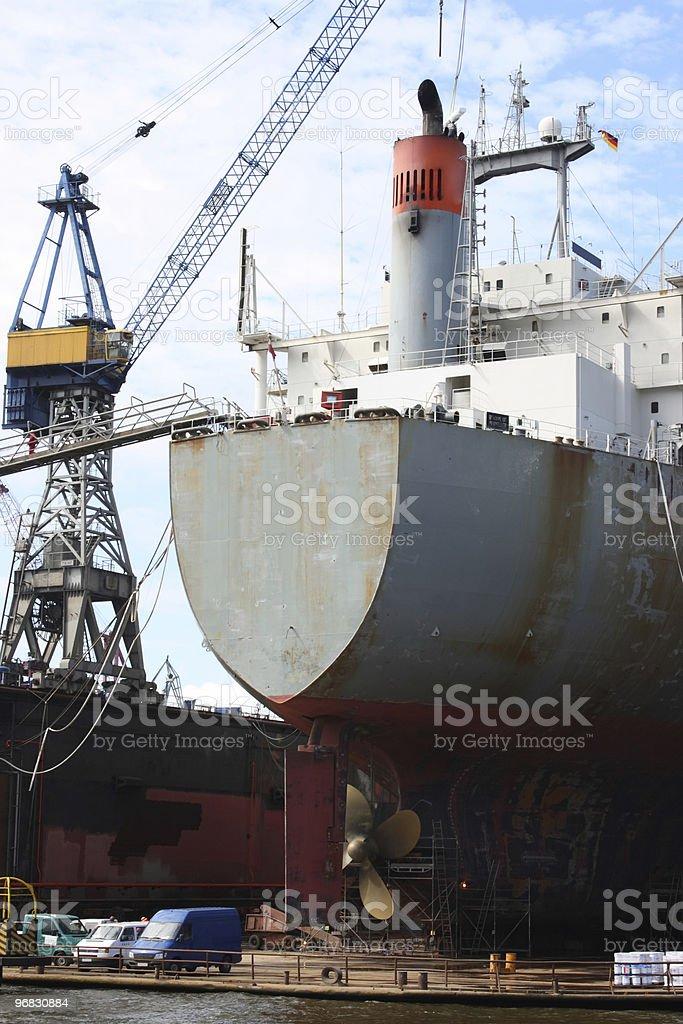 Hamburg Ship in Dock royalty-free stock photo