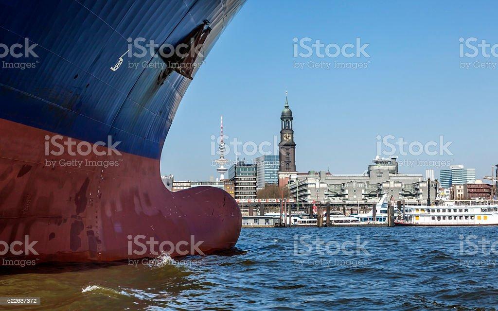Hamburg; Ship`s Bow stock photo