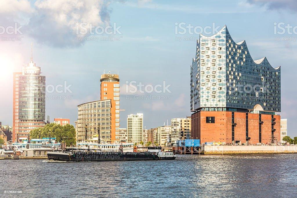 Hamburg Skyline stock photo