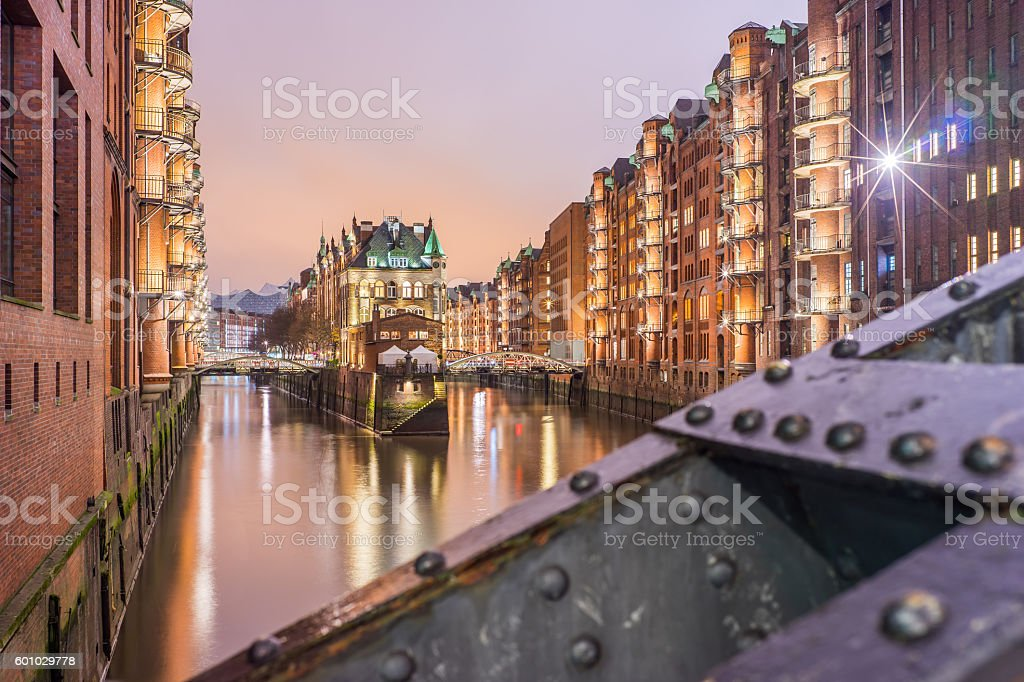 Hamburg Speicherstadt - Wasserschloss stock photo