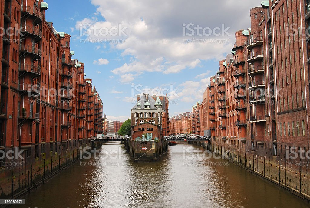 hamburg, speicherstadt stock photo