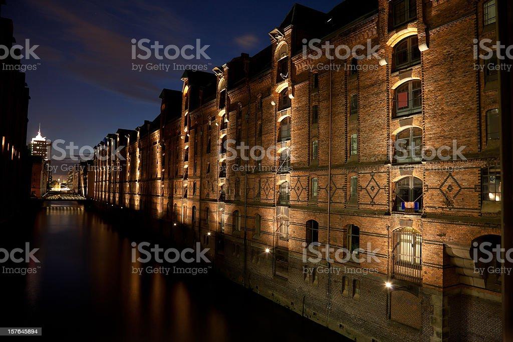 Hamburg Speicherstadt royalty-free stock photo