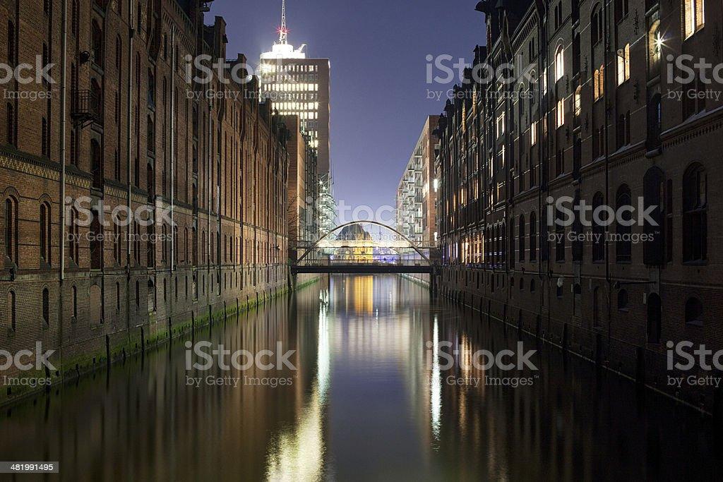 Hamburg Speicherstadt stock photo