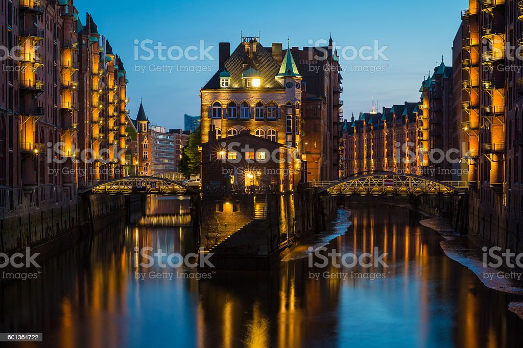 Hamburg Speicherstadt stock photo