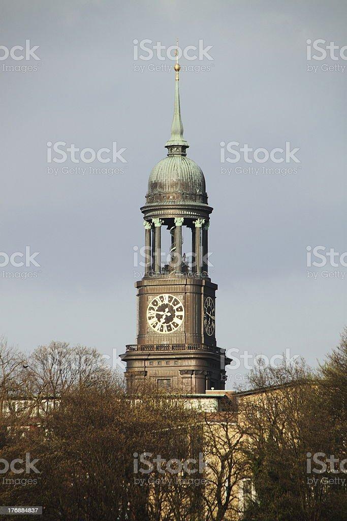 Hamburg St.Michaelis stock photo
