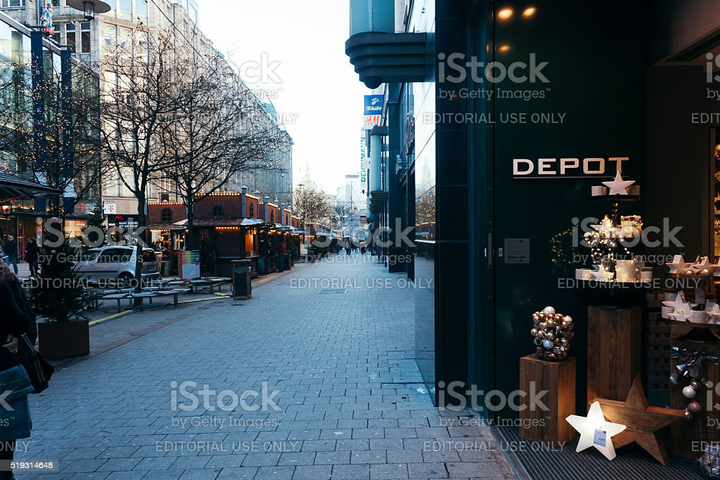Hamburg streets stock photo