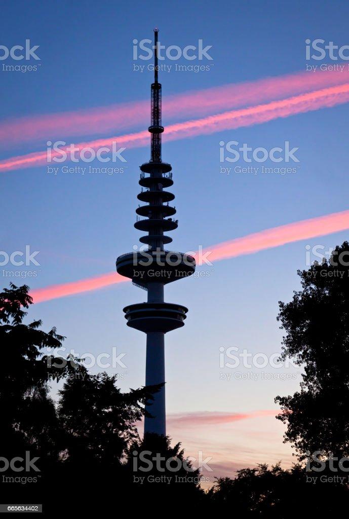 Hamburg Television tower (Heinrich-Hertz-Turm), Germany stock photo