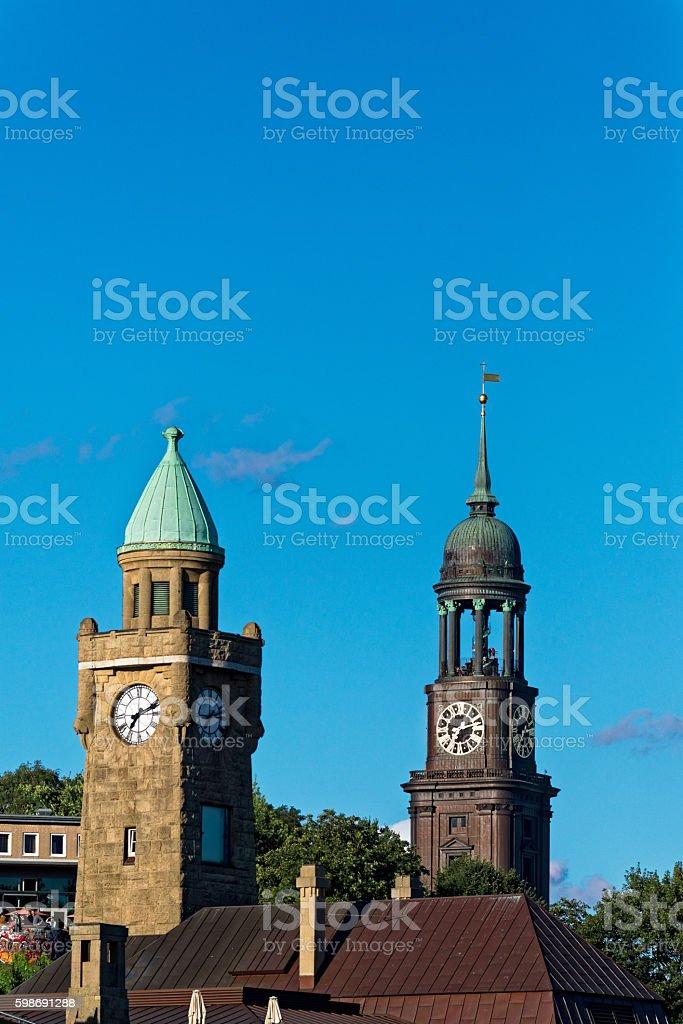Hamburg Towers stock photo