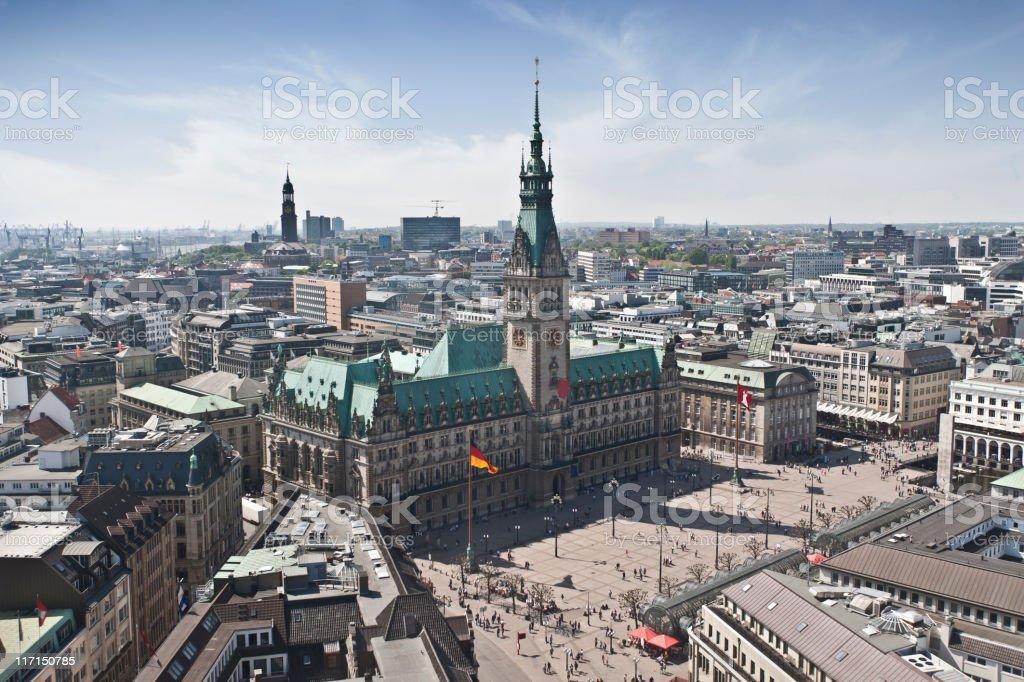 Hamburg Town Hall stock photo