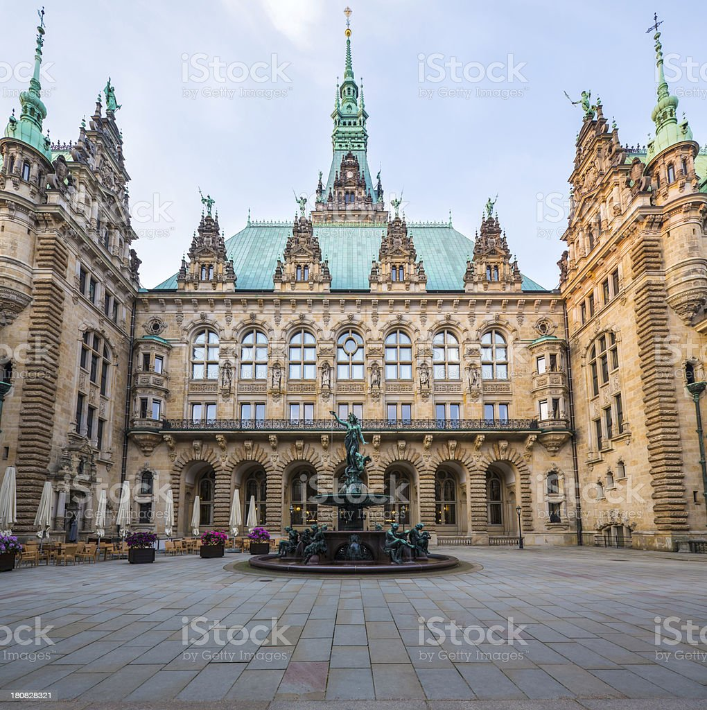 Hamburg Town Hall royalty-free stock photo